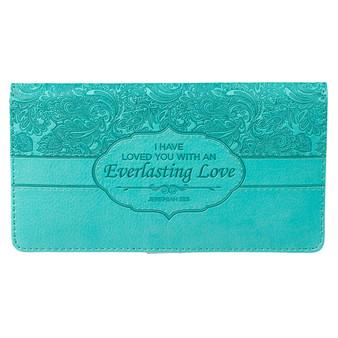 Everlasting Love - Jeremiah 31:3 Checkbook Cover