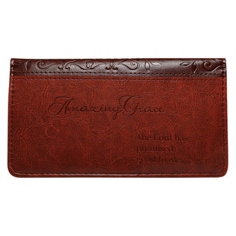 Brown Amazing Grace Checkbook Cover