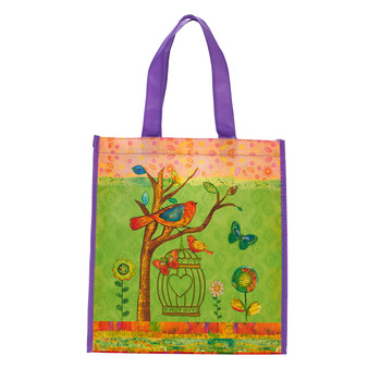 Birds May Your Day Be Blessed Tote Bag