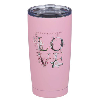 Do Everything In Love Stainless Steel Mug in Pink