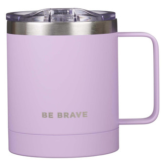 Be Brave Stainless Steel Camp Mug in Lavender