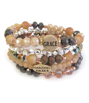 Faith Stetch Bracelet Beaded