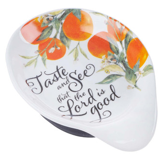 Taste and See Ceramic Spoon Rest - Psalm 34:8
