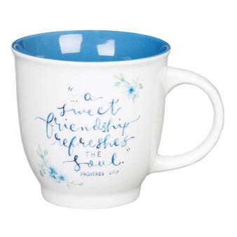 A Sweet Friendship Ceramic Coffee Mug - Proverbs 27:9