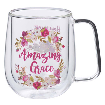 Amazing Grace Double-walled Glass Coffee Mug