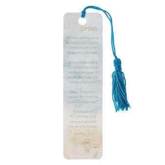 Footprints Bookmark with Tassel