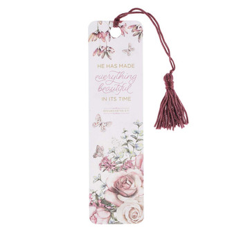 Everything Beautiful Bookmark with Tassel - Ecclesiastes 3:11