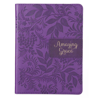 Amazing Grace Purple Handy-size Faux Leather Journal