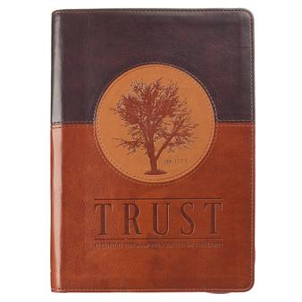 Trust Zippered Classic LuxLeather Journal - Jeremiah 17:7