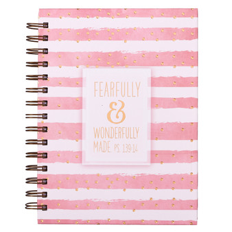 Fearfully & Wonderfully Made Large Hardcover Wirebound Notebook - Psalm 139:14