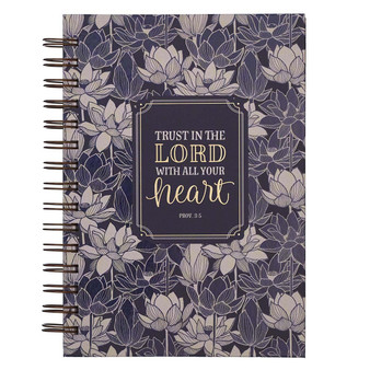 Trust In The Lord Blue Large Wirebound Journal - Proverbs 3:5