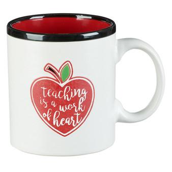 Teaching is a Work of Heart Coffee Mug