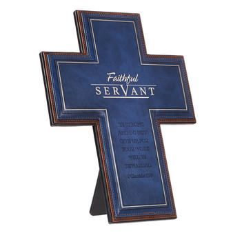 Desktop Cross Faithful Servant - 2 Chronicles 15:7