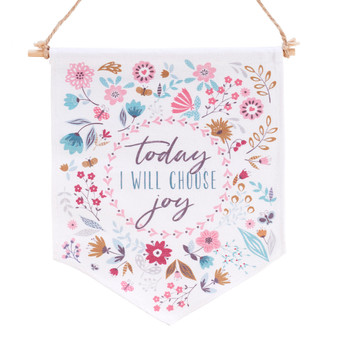 Choose Joy Wall Canvas Art Banner
