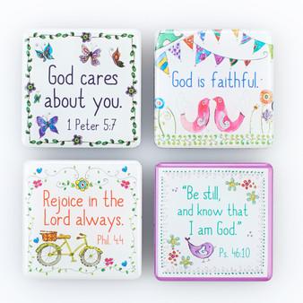 Everyday Blessings Inspirational Fridge Magnet Set - 1 Peter 5:7