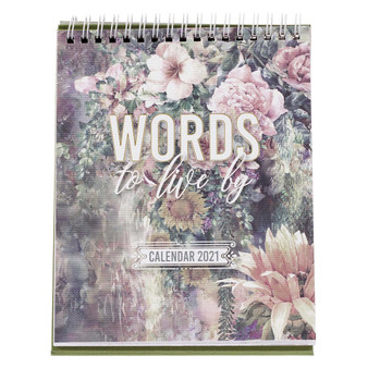 Words To Live By 2021 Desktop Calendar
