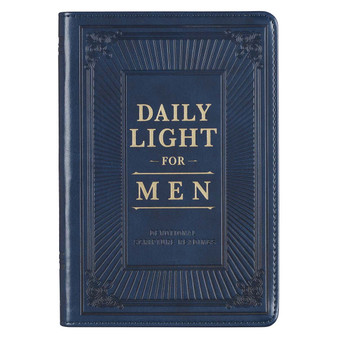 Daily Light for Men Blue Faux Leather Devotional