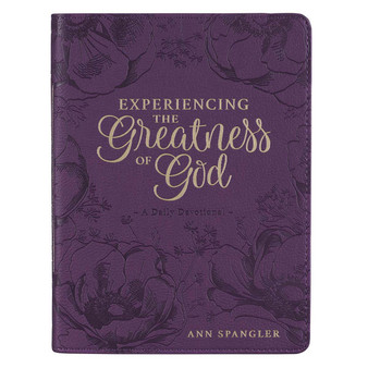 Experiencing the Greatness of God Purple Faux Leather Devotional
