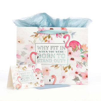 Why Fit In Large Gift Bag Set with Card and Tissue Paper