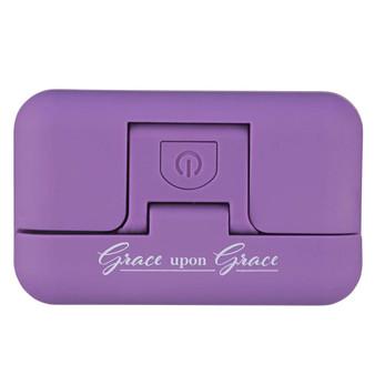 Grace Upon Grace Purple Adjustable Clip-on Book Light