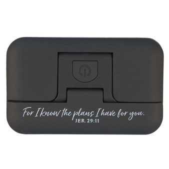 I Know the Plans Black Adjustable Clip-on Book Light - Jeremiah 29:11