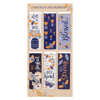 Let It Bee Magnetic Bookmark Set