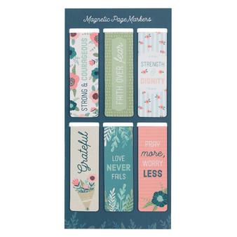 Floral Garden Magnetic Bookmark Set