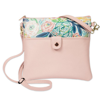 Bella Caroline Pale Pink Crossbody Bag