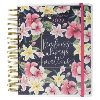 2022 Kindness Always Matters Wirebound 18 Month Planner For Women