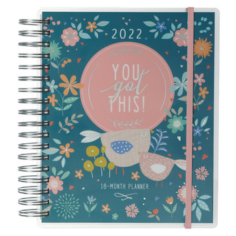 2022 You Got This Wirebound 18-month Planner For Women