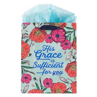 His Grace is Sufficient Medium Gift Bag - 2 Corinthians 12:9