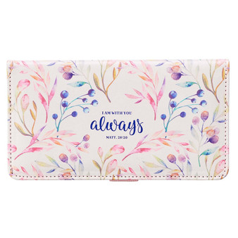 I Am With You Always Faux Leather Checkbook Cover - Matthew 28:20