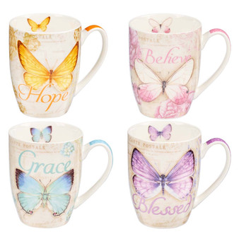 Butterfly Blessings Mug Set
