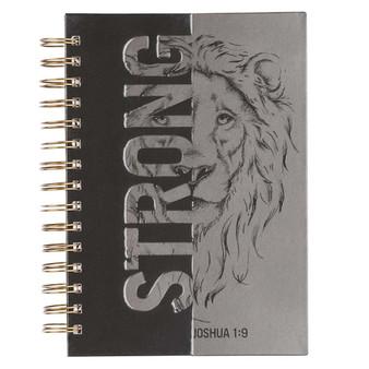 Strong Large Wirebound Journal - Joshua 1:9