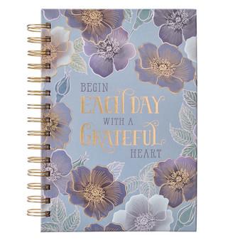 Grateful Heart Large Wirebound Journal