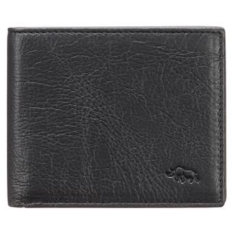 Men's Ebony Black Full Grain Cowhide Leather Bifold Rhino Armour™ Wallet