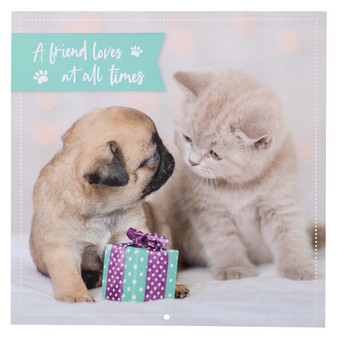 2022 A Friend Loves At All Times Large Wall Calendar - Psalm 17:17