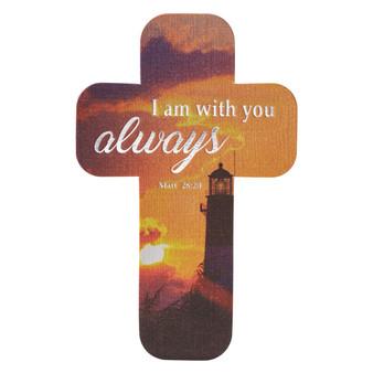 I Am with You Always Cross Bookmark Set - Matthew 28:20