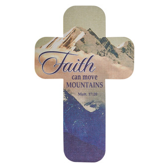 Faith Can Move Mountains Cross Bookmark Set - Matthew 17:20