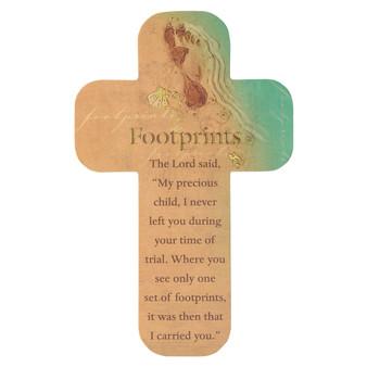 Footprints Cross Bookmark Set