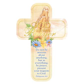 God Answers Prayers Cross Bookmark Set - Philippians 4:6