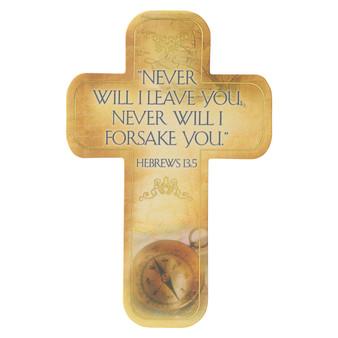 Never Will I Leave You Cross Bookmark Set - Hebrews 13:5