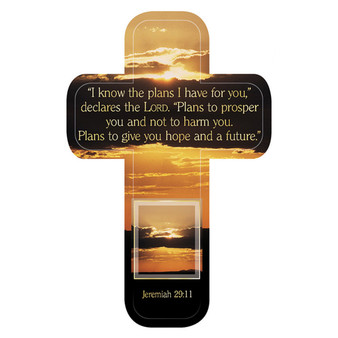 I Know the Plans I Have For You Cross Bookmark Set - Jeremiah 29:11