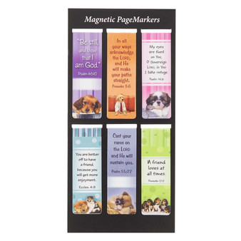 Be Still Magnetic Bookmark Set with Puppies - Psalm 46:10