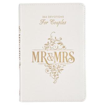 Mr. & Mrs. 366 Devotions for Couples White Faux Leather Devotional