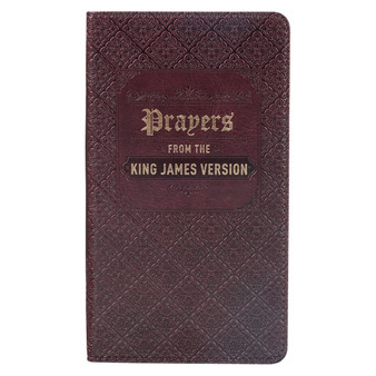 Prayers from the King James Version Brown Faux Leather Gift Book