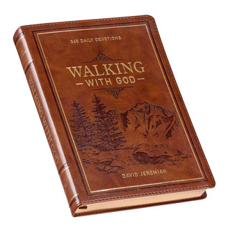 Walking With God Large Print Brown Faux Leather Devotional