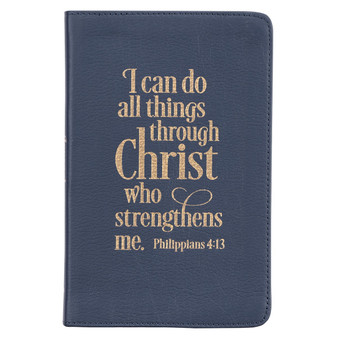 I Can Do All Things Full Grain Leather Journals - Philippians 4:13
