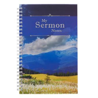 My Sermon Notes Wirebound Notebook with Mountains