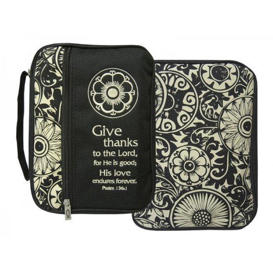 Canvas Bible Cover Give Thanks L